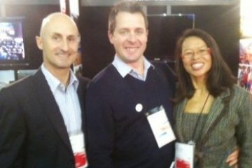 Trevor & Lilly in New Zealand with Nigel Birt, General Manager Ashburton District Tourism