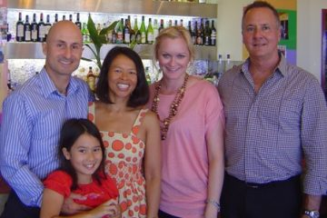 With Kate Lesley, Director HR & Phil Haller, General Manager Paradise Resort Gold Coast, at Top One Chinese Restaurant, Gold Coast, Australia