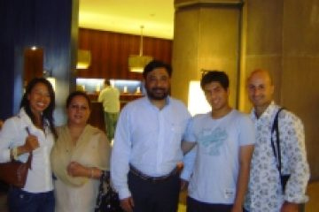 2008 in New Delhi with Binny Choudhary, Colonel Manbeer Choudhary, Past President Federation Hotel & Restaurant Association of India, son Roop