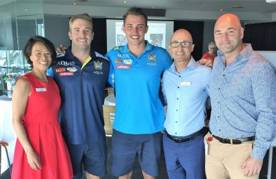 Kane Elgey & Karl Lawton from the Gold Coast Titans
