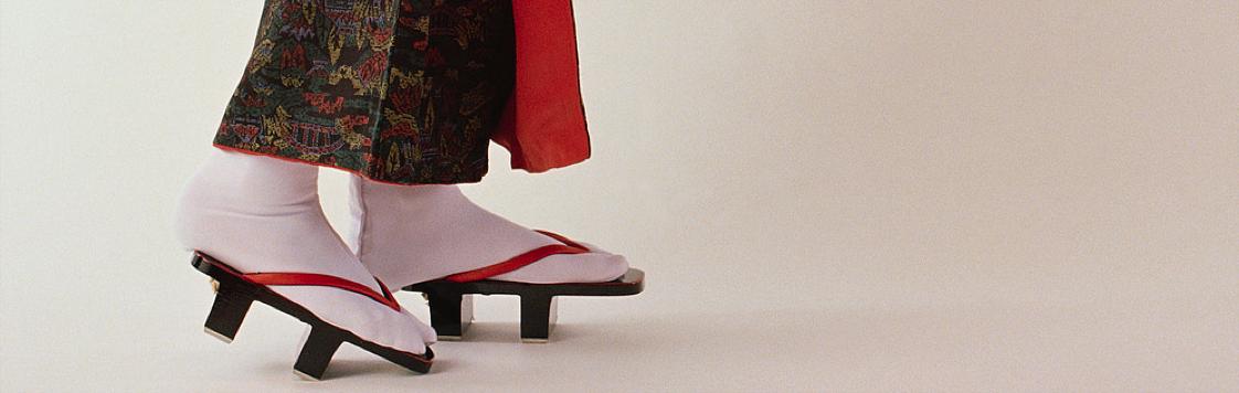 Geisha feet close up