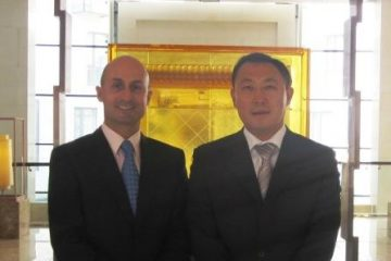 With Simon Tian, General Manager of the Mercure Beijing Downtown Hotel