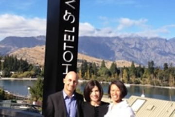 With Lynne McVicar, General Manager  Hotel St Moritz, Queenstown NZ