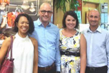 With Jasper Spruit, Director Aviation Marketing Amsterdam Airport Schiphol & Chloe Lockhart, Retailer Coordination Manager Brisbane Airport