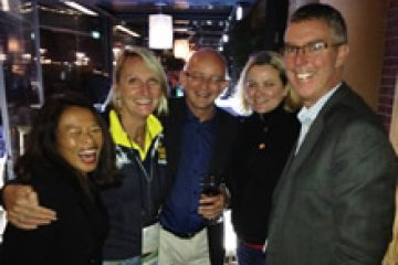 TRENZ 2014 with (from L-R) Kate Malcolm & Jeroen Jongejans, owners Dive! Tutukaka, Jane Carruthers, Marketing Manager Aero Commercial & Charles Spillane, GM Corporate Affairs, Auckland Airport
