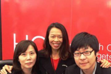 In Auckland at TRENZ 2014 with Julia Lim, Director World Marketing Korea & David Huang SPT Digital China