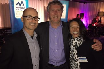 With CEO Melbourne Airport Chris Woodruff