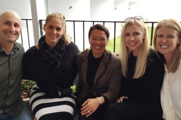 With Gold Coast Airport Managers Emily Wheeler & Alex Cross & Marion Charlton COO - friends & clients since 2003!