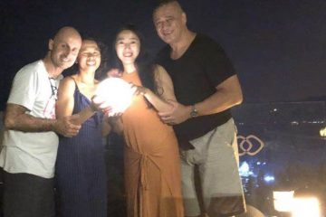 Hangzhou Sofitel GM Raymond Faulkner & wife Ning. Raymond is totally immersed in China & his respect for China's people & culture is the secret to his success there.