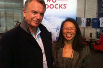 Sam Neil, actor and also owner of Two Paddocks Winery, Central Otago New Zealand, at TRENZ 2011 Queenstown.